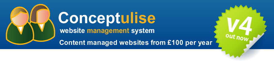Conceptulise - content managed websites from £100 per year
